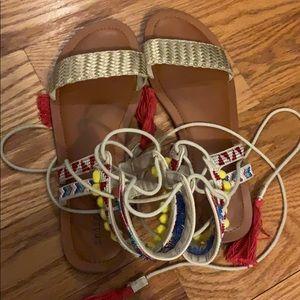 Bohemian Lace Up Sandals!
